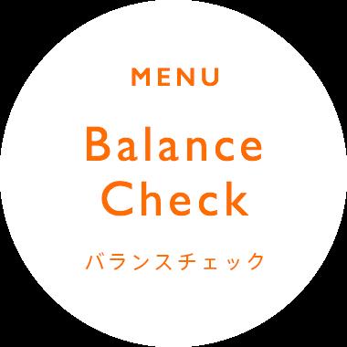 Balance Check バランスチェック